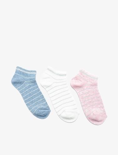 Koton Kids 3'lü Kiz Çocuk Çorap Pembe